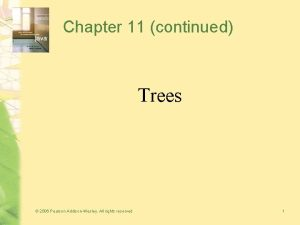 Chapter 11 continued Trees 2006 Pearson AddisonWesley All