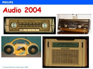 udio 2004 Consumer Electronics Dmitry Loginov 2004 1