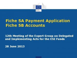 Fiche 5 A Payment Application Fiche 5 B