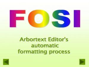 FOSI for screen and print u A screen
