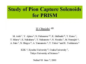 Study of Pion Capture Solenoids for PRISM H