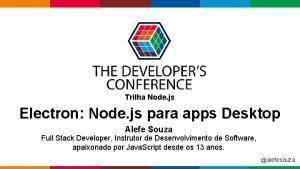Trilha Node js Electron Node js para apps