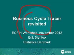 Business Cycle Tracer revisited ECFIN Workshop november 2012