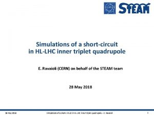 Simulations of a shortcircuit in HLLHC inner triplet