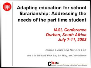 Adapting education for school librarianship Addressing the needs