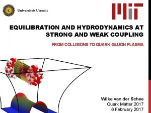 EQUILIBRATION AND HYDRODYNAMICS AT STRONG AND WEAK COUPLING