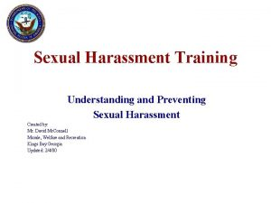 Sexual Harassment Training Understanding and Preventing Sexual Harassment