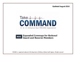Updated August 2018 MHS Expanded Coverage for National