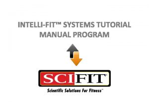 INTELLIFIT SYSTEMS TUTORIAL MANUAL PROGRAM Manual Overview The