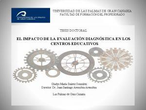 UNIVERSIDAD DE LAS PALMAS DE GRAN CANARIA FACULTAD