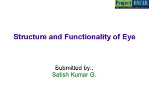 Structure and Functionality of Eye Submitted by Satish