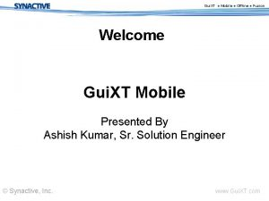 Gui XT Mobile Offline Fuzion Welcome Gui XT
