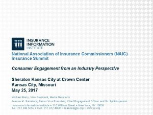National Association of Insurance Commissioners NAIC Insurance Summit