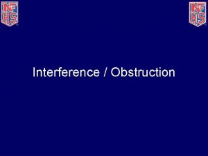Interference Obstruction Topics Interference Obstruction Case Plays Interference