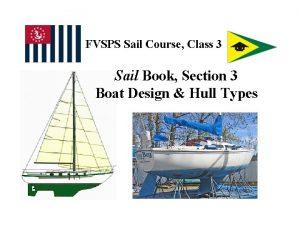 FVSPS Sail Course Class 3 Sail Book Section