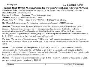 January 2001 doc IEEE 802 15 01092 r