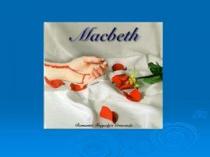 Macbeth Act V Lady Macbeth has been driven