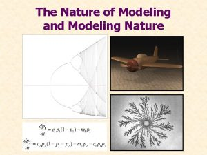 The Nature of Modeling and Modeling Nature Role