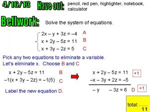 pencil red pen highlighter notebook calculator Solve the