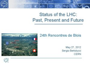 Status of the LHC Past Present and Future