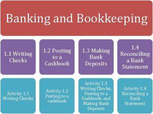 Banking and Bookkeeping 1 1 Writing Checks Activity