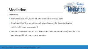 Mediation Definition Instrument das hilft Konflikte zwischen Menschen