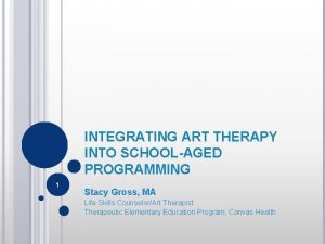 INTEGRATING ART THERAPY INTO SCHOOLAGED PROGRAMMING 1 Stacy