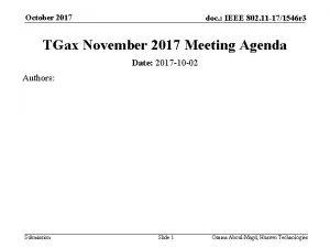 October 2017 doc IEEE 802 11 171546 r