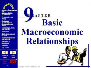 Income Consumption and Income Saving Relationships Consumption and