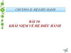 CHNG II H IU HNH BI 10 KHI