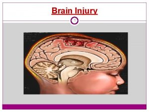 Brain Injury 1 Concept Map Selected Topics in