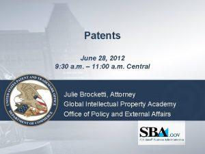 Patents June 28 2012 9 30 a m