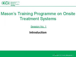 Masons Training Programme on Onsite Treatment Systems Session