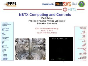 Office of Science Supported by NSTX Computing and