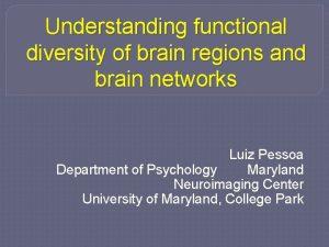 Understanding functional diversity of brain regions and brain
