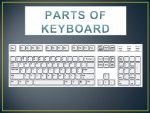 History of Keyboard The history of computer keyboards