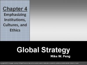 4 Chapter 4 chapter Emphasizing Institutions Cultures and