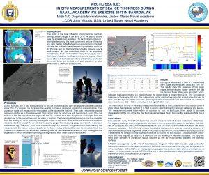 ARCTIC SEA ICE IN SITU MEASUREMENTS OF SEA