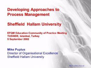 Sheffield Hallam University Http excellence shu ac uk