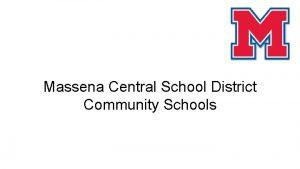 Massena Central School District Community Schools Community Schools