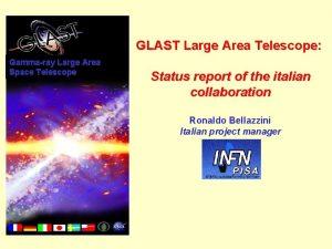 GLAST Large Area Telescope Gammaray Large Area Space