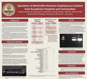 Speciation of MethicillinResistant Staphylococci Isolated from Ecuadorian Hospitals