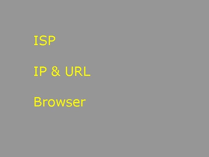 ISP IP URL Browser Terms b Browser b