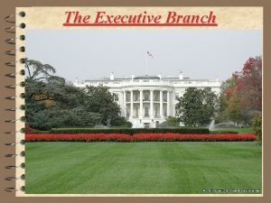 The Executive Branch The Executive Branch The President