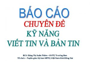 BCV ng Thi Xun Th m UVTT Tr