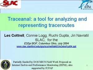 Traceanal a tool for analyzing and representing traceroutes