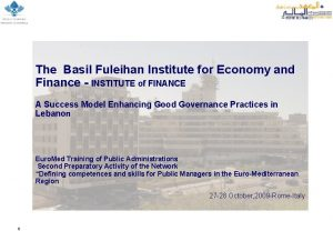 The Basil Fuleihan Institute for Economy and Finance