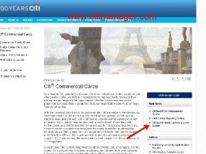 Citi Website www citimanager com Select the Citi