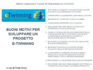 Istituto Comprensivo S Lucia di Chiaromonte a s