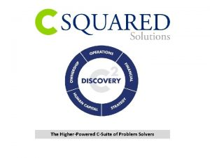 The HigherPowered CSuite of Problem Solvers C SQUARED